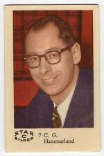 1960s Swedish Film Star Card Star Bilder C #7 Radio Presenter C. G. Hammarlund