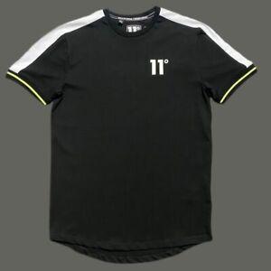 Mens Designer 11 DEGREES King Short Sleeve T Shirt Casual Gym Top Tee Black