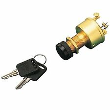 """Sea Dog 420355-1 Ignition Switch 3 Position 3 Terminal 1-1/8"""" W/ Cap"""