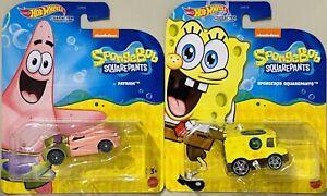 Hot Wheels Character Cars Spongebob Squarepants Set Of 2 Patrick And Spongebob