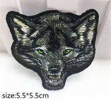 1 pcs Wolf Head Pattern Embroidered Cloth Iron On Patch Sew Motif Applique DIY