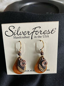 Multi Color Silver Forest Surgical 18k Steel Dangle Hook Earrings