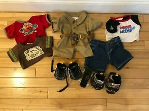 Build a Bear  Lot of Boys Outfits Top/Shorts, Shoes/Roller Skates
