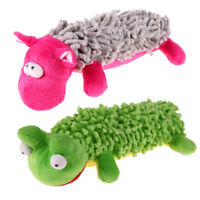 1pc Pet Puppy Dog Frog Toy Plush Sound Squeaker Chew Toys Small Pets Playing Toy