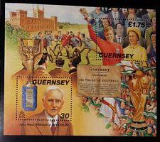 GUERNSEY 1998 150 YEARS OF FOOTBALL MINIATURE SHEET MNH (NoL244)