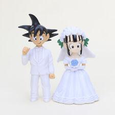 """Anime Dragon Ball Goku ChiChi Wedding Cake Topper (Set Of 2pc) 3"""" Tall"""