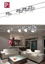 PAULMANN LED SEILSYSTEM CARDAN CHROM MATT 4x4W 12V NEUSTE LED TECHNIK ART:94125