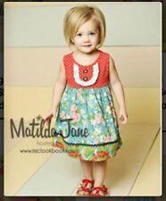 HTF Girls Matilda Jane Good Hart Red School Dress size 6 EUC