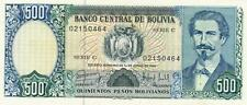 A    SAISIR   BILLET  DE   500  PESOS   1981  NEUF   BOLIVIE  .  AMERIQUE DU SUD
