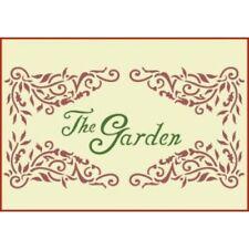 VICTORIAN GARDEN SIGN 1 STENCIL - The Artful Stencil