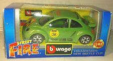1/43 VW new beetle verte burago cox combi maggiolino Käfer Escarabajo coccinelle