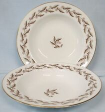 Minton China Rosewood S640 Rimmed Soup or Salad Bowl pair