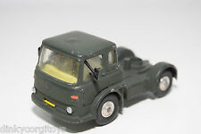 CORGI TOYS BEDFORD TRACTOR UNIT TRUCK ARMY GREEN GOOD CONDITION REPAINT