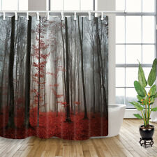 Gothic forest with fog Bathroom Shower Curtain Waterproof Fabric W/ 12 Hooks 71""