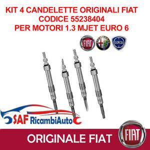 4 Candelette originali Alfa Mito FIAT 500 500L Panda Punto Evo EURO 6 55238404