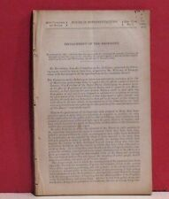House of Representatives Pamphlet - Impeachment of Andrew Johnson - 1867
