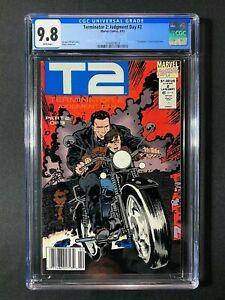 Terminator 2: Judgment Day #2 CGC 9.8 (1991)  - RARE Newsstand - Schwarzenegger
