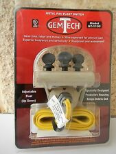 GemTech GT-1100 Metal Pan Float Switch Overflow Shutoff