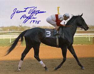Ruffian photograph Jacinto Vasquez signed autograph