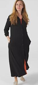 Attitudes By Renee Textured Button Maxi & Como Petite Maxi Dress,2XL, Black BNWT