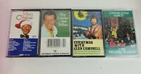 Christmas Cassette Tape Lot Glen Campbell Brady Bunch Bing Crosby Andy Williams