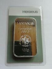 Silberbarren 100g, der Firma Heraeus