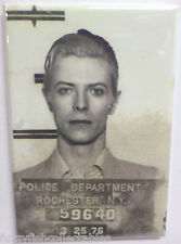 "David Bowie Mugshot Vintage Photo 2"" x 3"" Refrigerator Locker MAGNET"