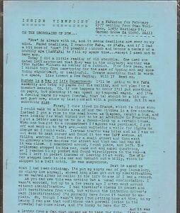 VINTAGE SCIENCE FICTION FANZINE #355 - INSIDE VIEWPOINT FEB 1977