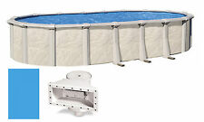 """18'x33'x52"""" Ft Oval Fallston Above Ground Swimming Pool with Liner & Skimmer Kit"""