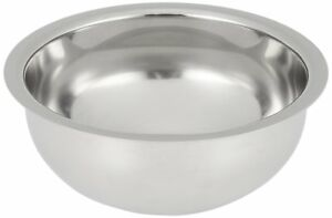 EDWIN JAGGER Polished Stainless Steel Shaving Soap Bowl NEW