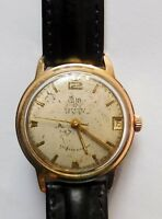 GUB Glashütte  vor 1964 Automat 34 mm Kaliber 67.1  Datum 23 Steine Sammlerstück