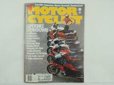 July 1984 Motorcyclist Magazine Honda Vf1000 Interceptor Kawasaki Yamaha L3186