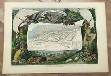 ALGERIA 1845 LEVASSEUR LARGE ANTIQUE DECORATIVE MAP 19e CENTURY
