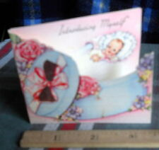 "Vintage 15 Birth Announcement *Introducing Myself * 3""H X 3 1/2""Inches W"