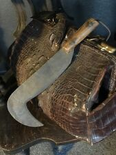 Diabolical Antique 19th Century Primitive Hook Blade Cutting Knife Dungeon Decor