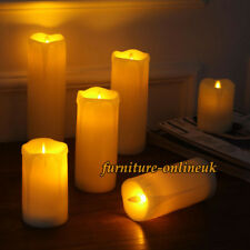 LED Set Of 6 Candle Light Flicker Smokeless Tea Lights Fake Wax Tear Warm White