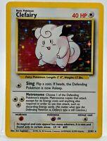 HOLO CLEFAIRY 5/102  Base Set  Pokemon Card  Near Mint ⭐ 1999 Gorgeous  Card