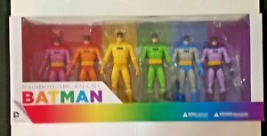 DC COLLECTIONS BATMAN RAINBOW ACTION FIGURES (6) PACK BRAND NEW NEVER OPENED