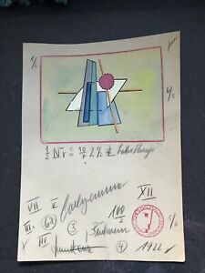 BAUHAUS Lothar Schreyer Expressionismus Gemälde Zeichnung
