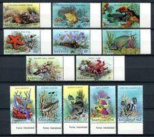 BARBUDA 1987 Meerestiere Sea Life Freimarken 973-985 **