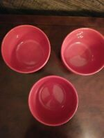 "Jcpenney Home Collection Bowls Set of 3 Tobasco RED 3.5""t Soup Cereal Snacks"