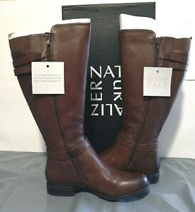Naturalizer Women's Jackie Wide Calf Knee High Leather Boots Sz 7M, 8.5M - 1E_31