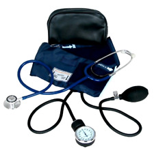 Stethoscope Manual Adult Blood Pressure Cuff Kit Sphygmomanometer BP Medical Kit
