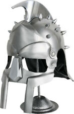 India Made Gladiator Helmet Wearable, heavy 18 gauge construction. Display stand