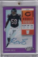 Roquan Smith 2018 Contenders Optic Purple Rookie Ticket Rc Auto (33/99)