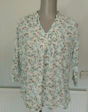 Blouse 3/4 Sleeve Y Neck Floral Tops & Shirts for Women