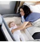 Mika Micky Bedside Sleeper Bedside Crib Easy Folding Portable Crib,Grey.