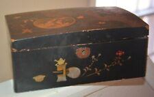 Vintage Japanese Wooden Lacquer ware black box tea ceremony korin-makie birds
