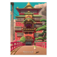Spirited Away Anime Poster - Studio Ghibli Official Art - High Quality Prints