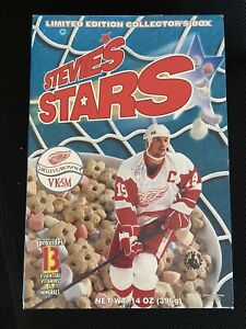 Steve Yzerman Stevie's Stars Cereal Box - Detroit Red Wings NHL